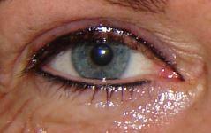Eyeliners vlak na de behandeling