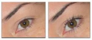 voor en na wimper-permanent