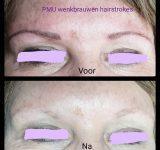 Permanent Make up wenkbrauwen hairstrokes